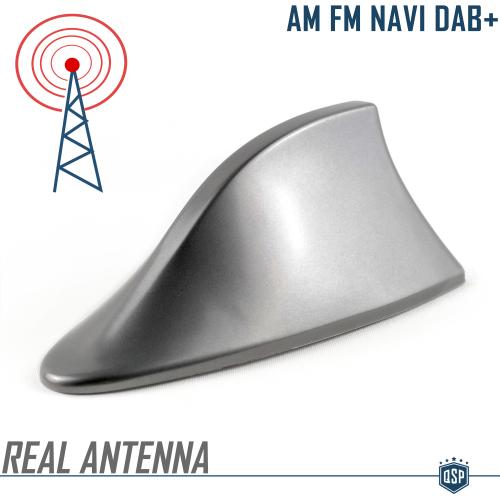Antenna per auto con pinna di squalo accessorio decorativo bianco antenna da tetto AM FM segnale radio universale Umisu
