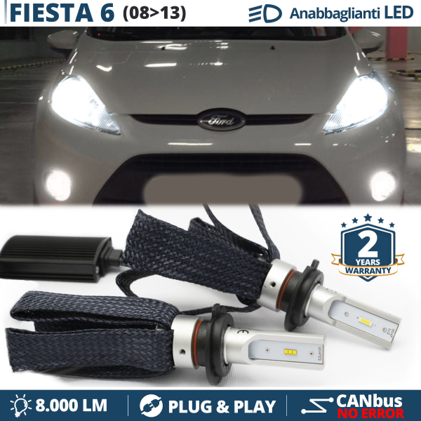 1x FORD FIESTA MK6 lumineux LED BLANC XENON PLAQUE D/'IMMATRICULATION mise à niveau Ampoule
