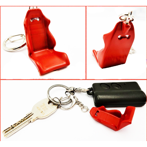 Car Keychain SPORTS SEAT Red in Metal GIFT IDEA